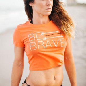 Be Brave Crop Shirt- Orange