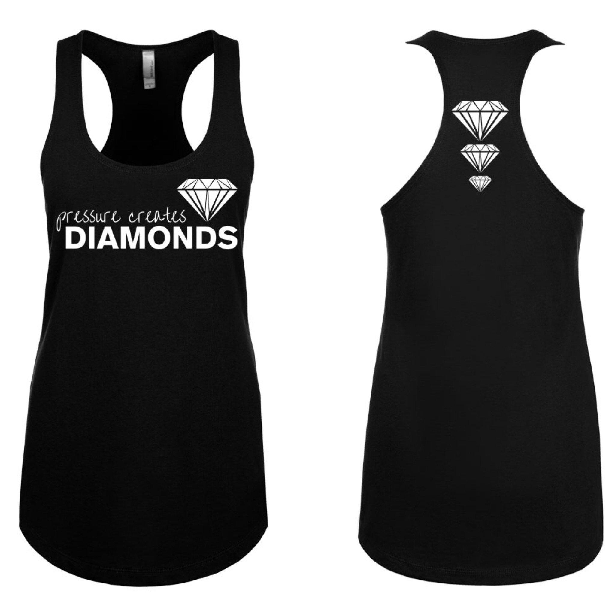 Pressure Creates Diamonds Black Tanktop
