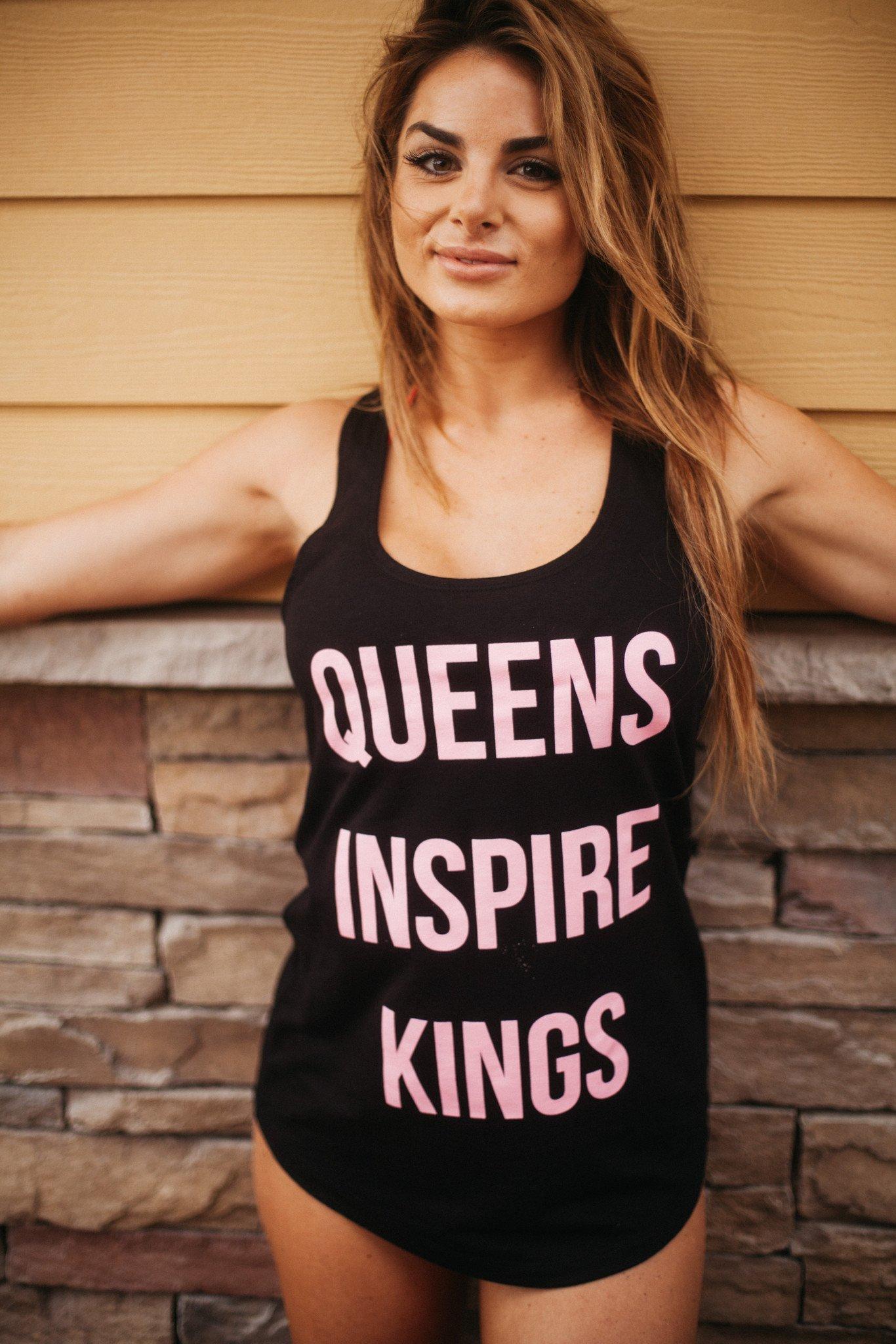 Queens Inspire Kings Racerback Pink Tanktop