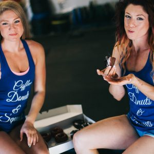 FitGirls Inspire Coffee Donuts & Squats Royal Blue Tank Top