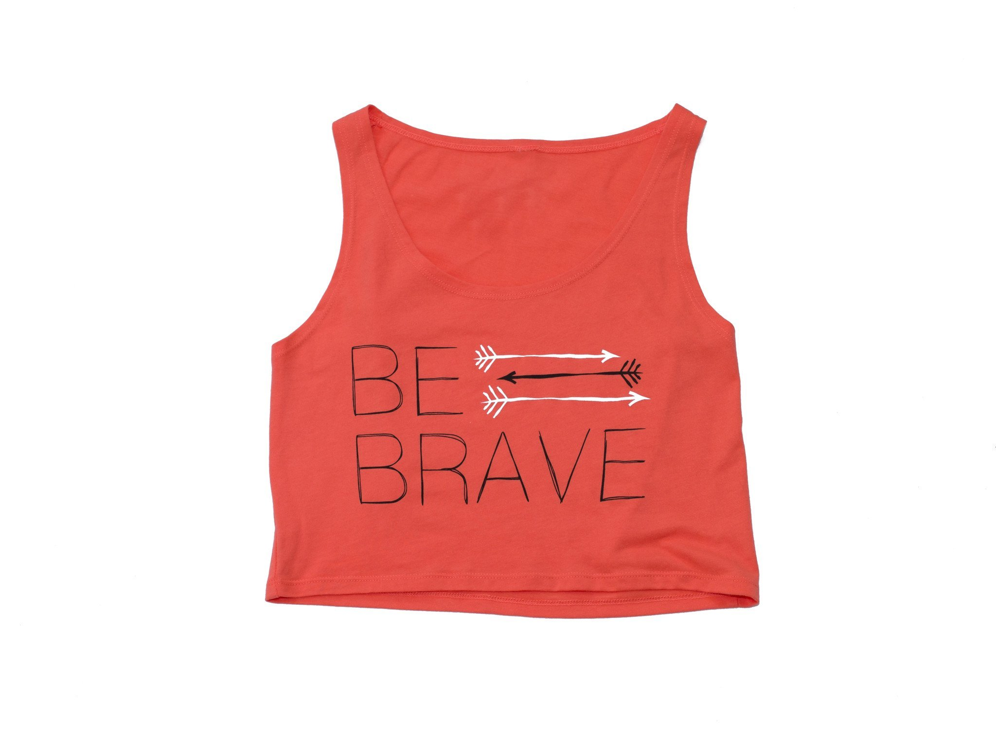 FitGirls Inspire Be Brave Crop Tank Orange
