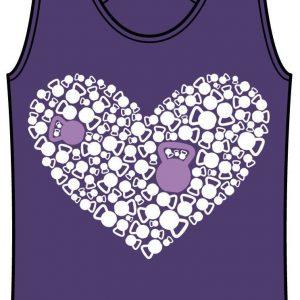 Kettle Bell Heart Tank Purple Rush