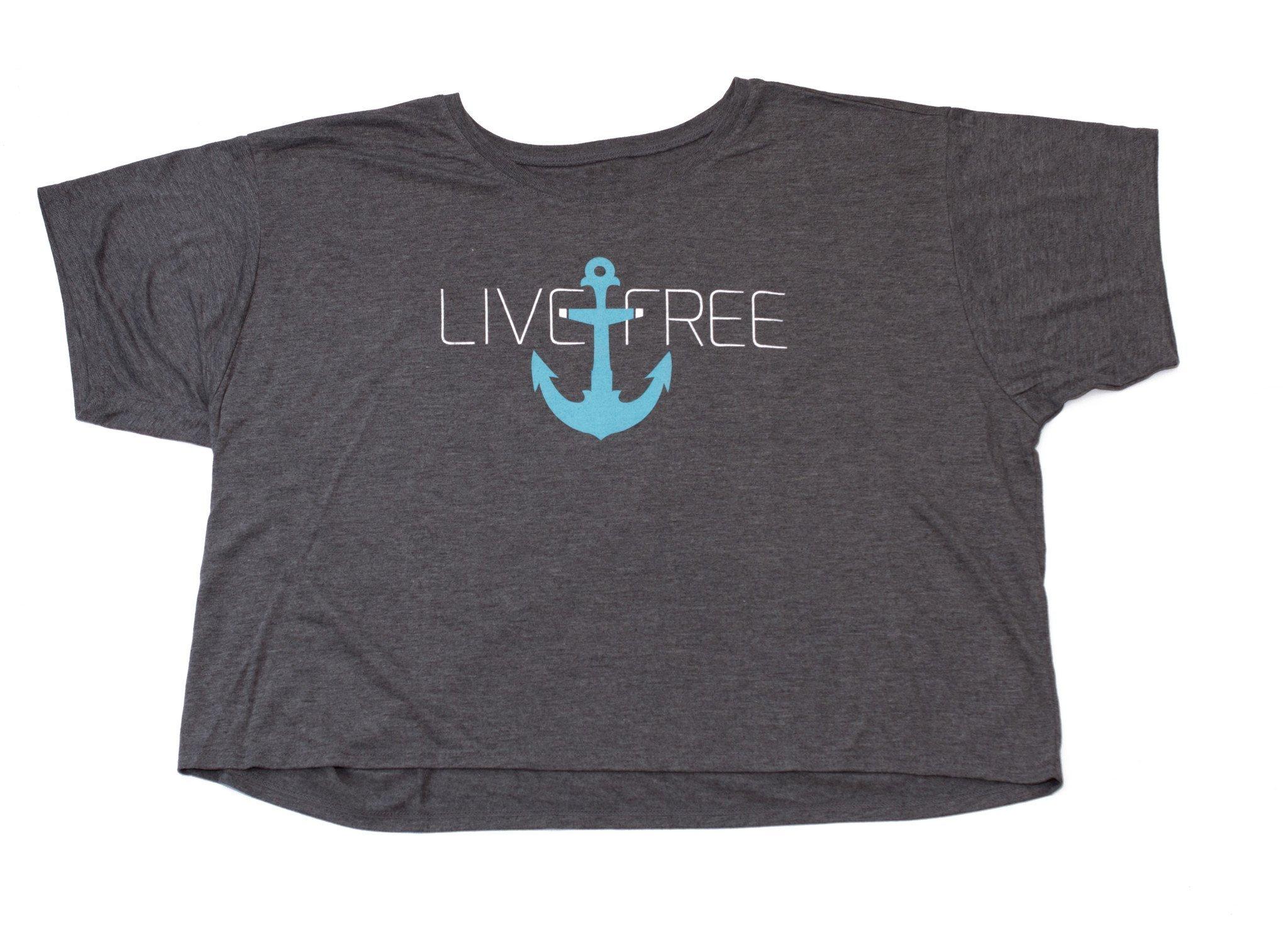 Live Free Anchor Grey Shirt
