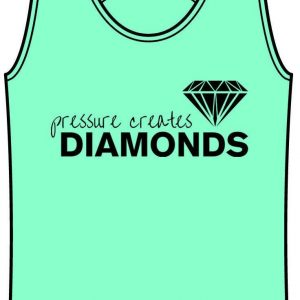 Pressure Creates Diamonds Mint Tanktop