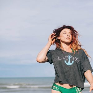 Live Free Anchor Grey Shirt
