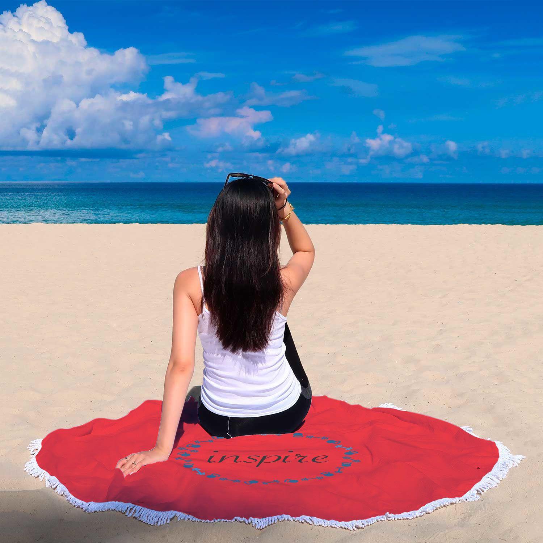 Red Round Beach Blanket