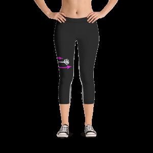 FitGirls Inspire Black Capri Yoga Leggins