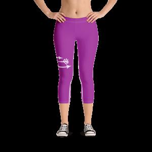 FitGirls Inspire Purple Capri Yoga Leggins