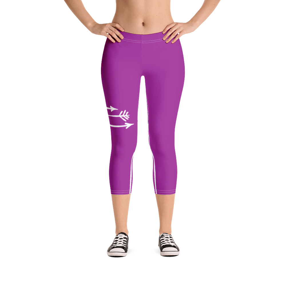 FitGirls Inspire Purple Capri Yoga Leggins