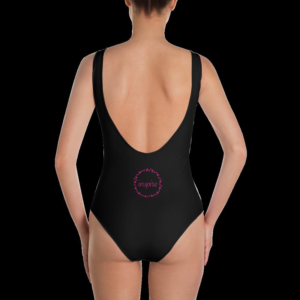 Purple Black OnePiece Swimsuit