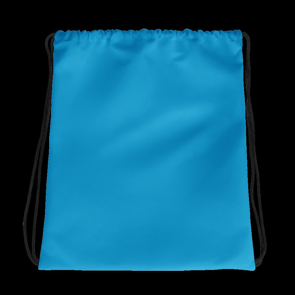 Light Blue Black White 3 Arrows Drawstring Bag