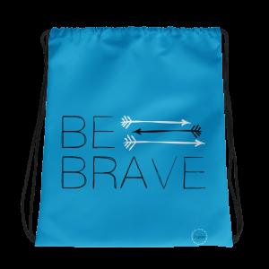 Light Blue Black White 3 Arrows Drawstring Bag FitGirls Inspire