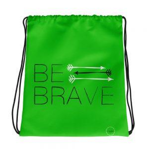 Light Green Drawstring Bag Fit Girls Inspire three arrows