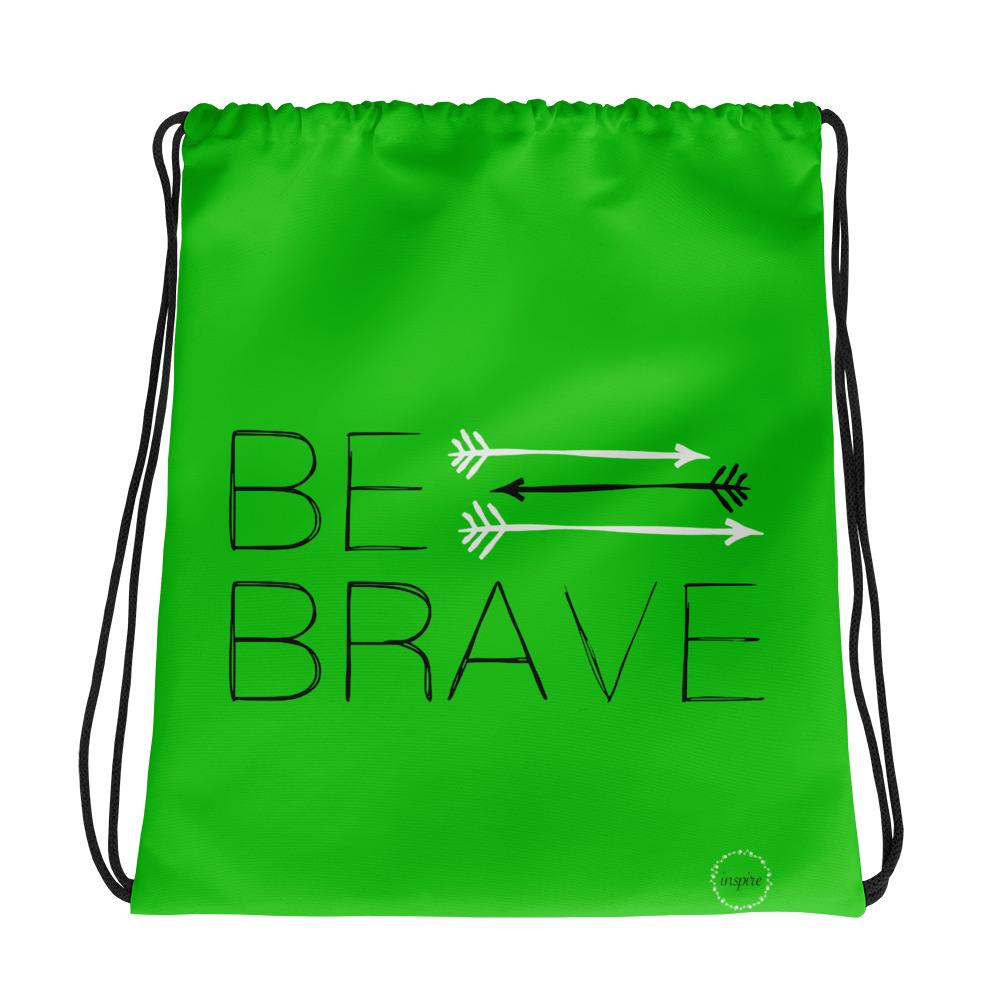 Light Green Drawstring Bag Fit Girls Inspire three arrows